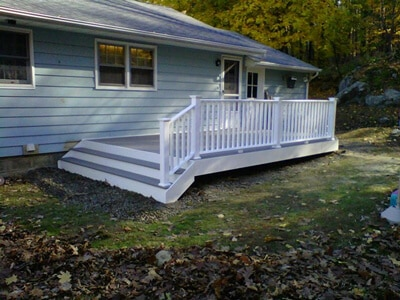 Composite Deck with Vinyl Rails in Montgomery, NY