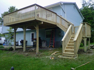 Large Second Story Deck in Marlboro, NY